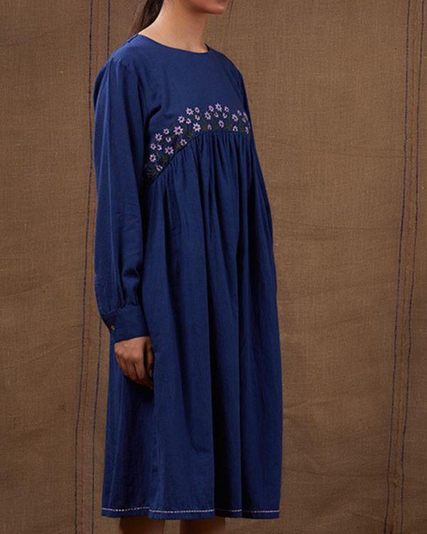 Midnight blue floral dress 3