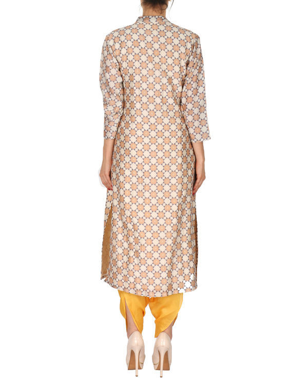 Kurta with patiala set in beige and yellow 2