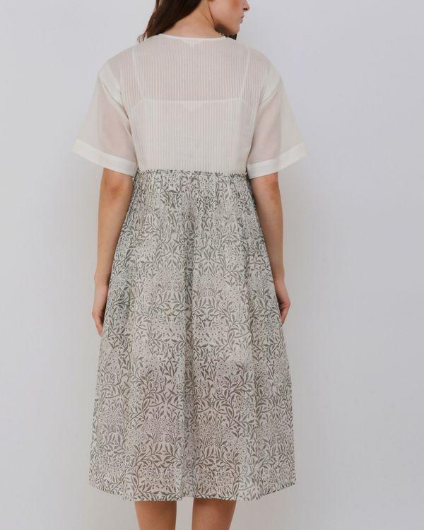 Handblock printed grey dress 2