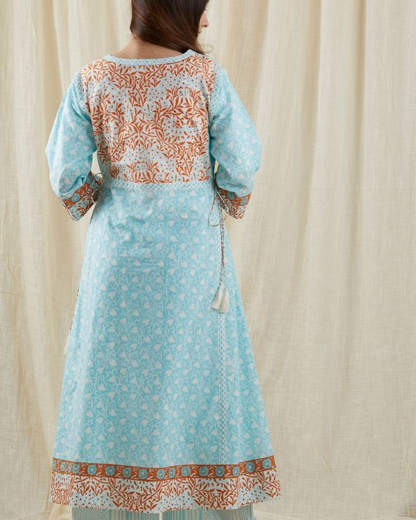 Pastel aqua chinar suit set - set of three 3