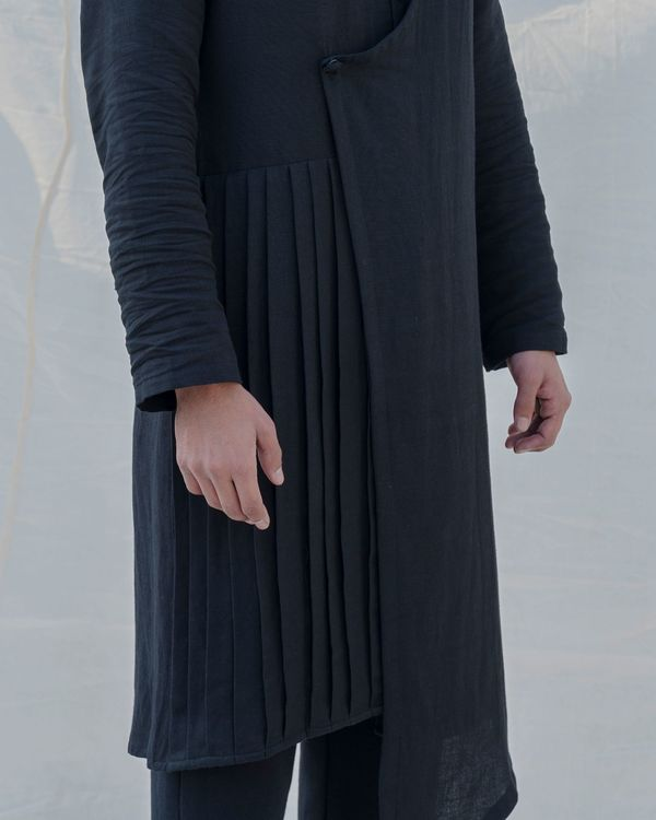 Black colored cotton kurta 1