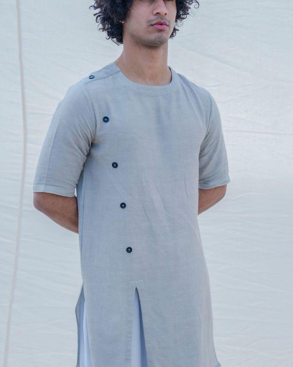 Grey colored short kurta 2