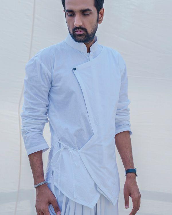 White cotton short kurta 1