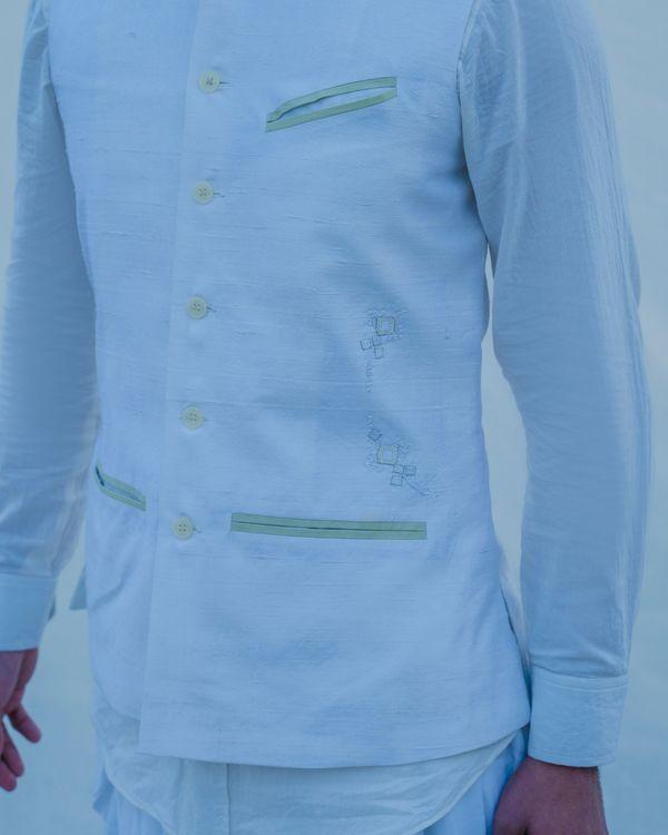 Serene off white waist coat 2