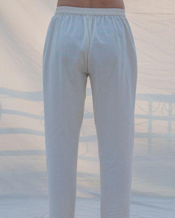 Off white cotton pants 1
