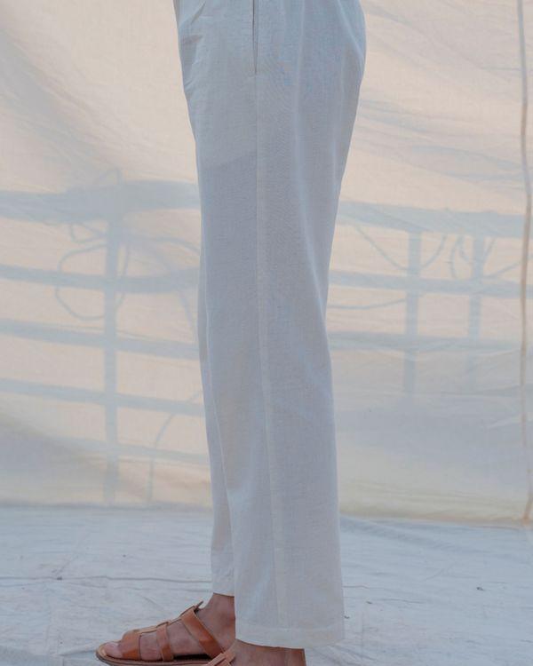 Off white cotton pants 2