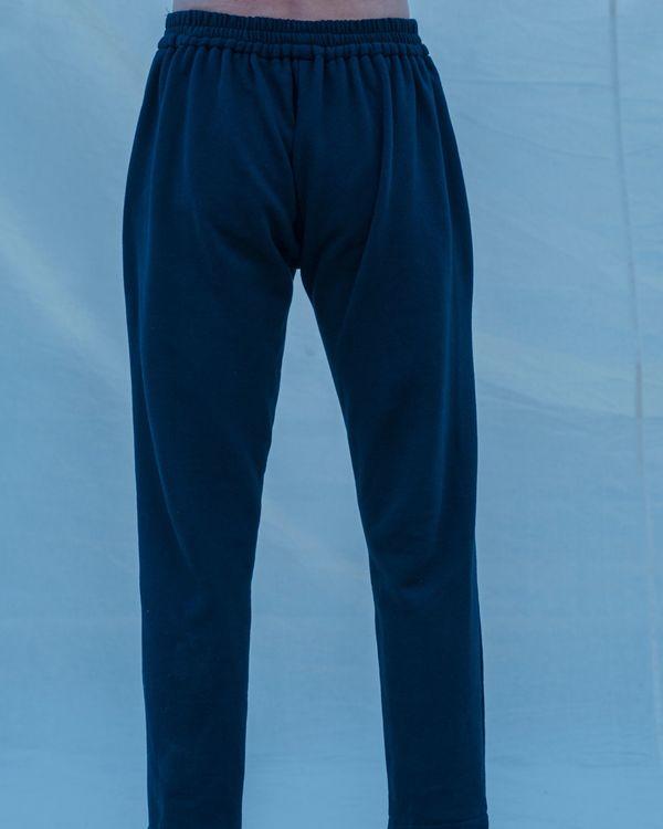 Black cotton linen pants 1