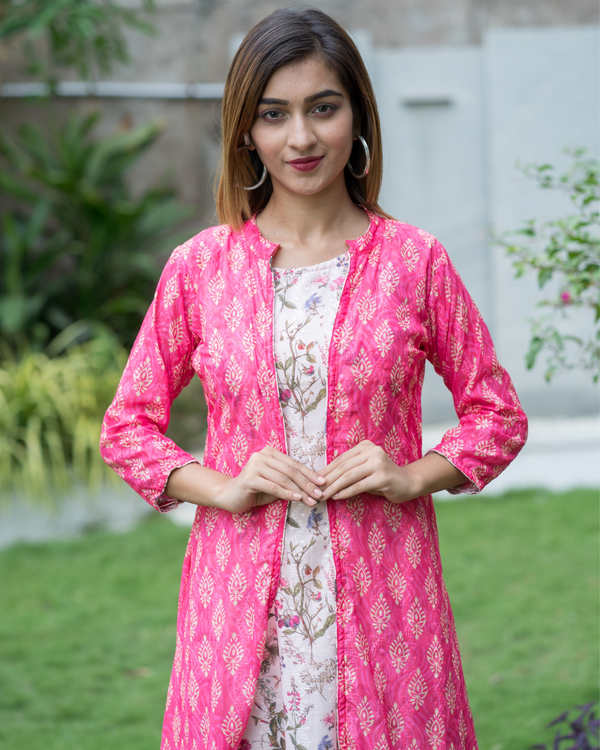 Embroidered jacket dress with ruffles 2