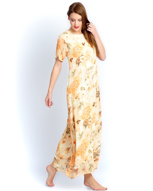 Sunflower yellow long gown 1