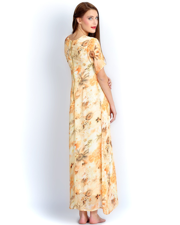 Sunflower yellow long gown 2