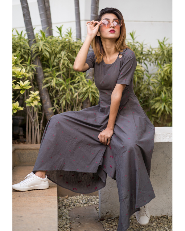 Monsoon grey asymmetric hem dress 2