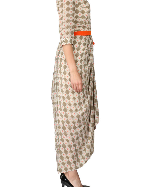 Printed dhoti dress 1