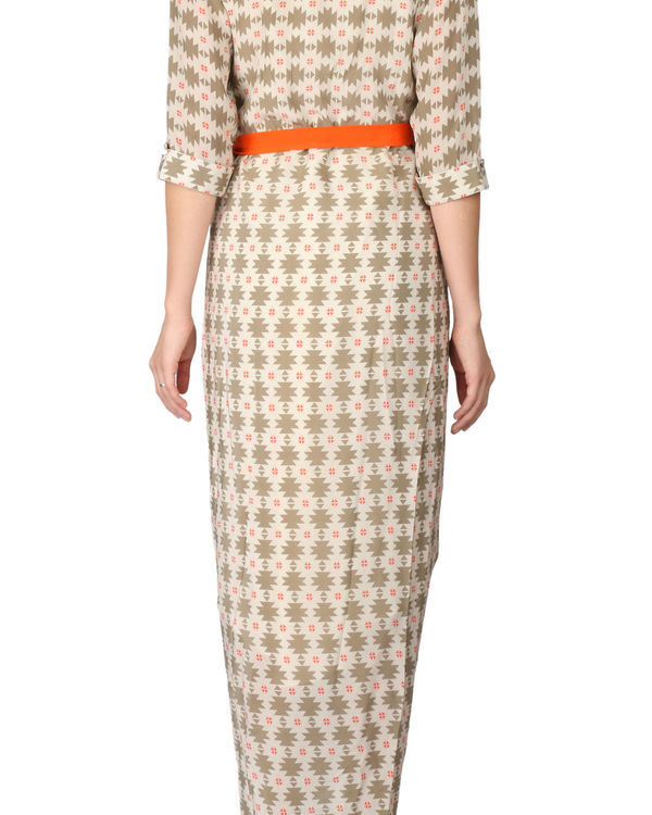 Printed dhoti dress 2