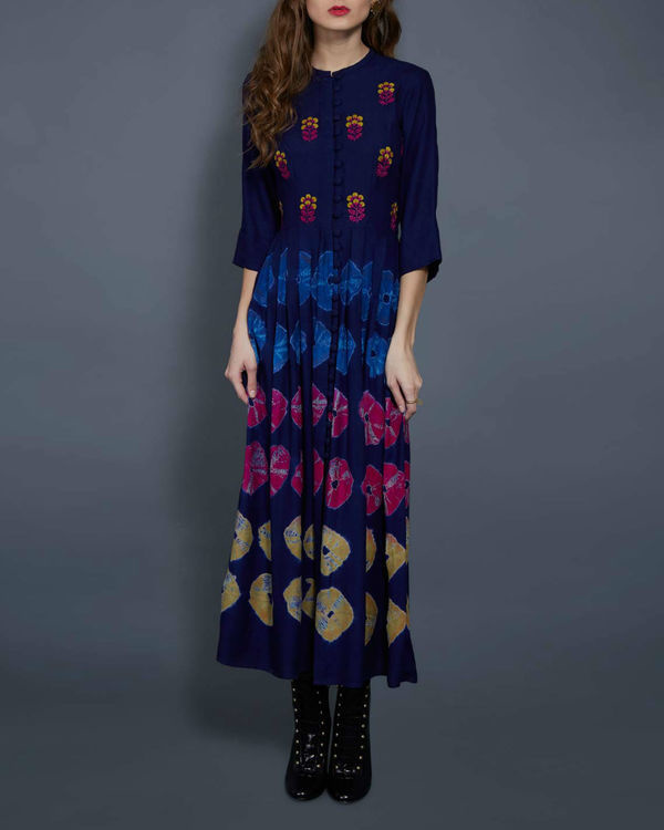 Navy blue tie and dye tunic 1