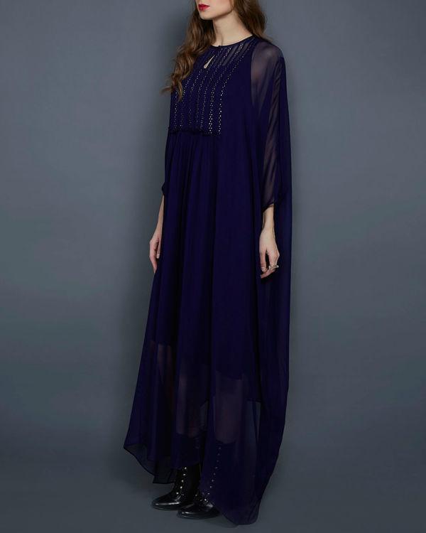 Navy blue kaftan dress 1