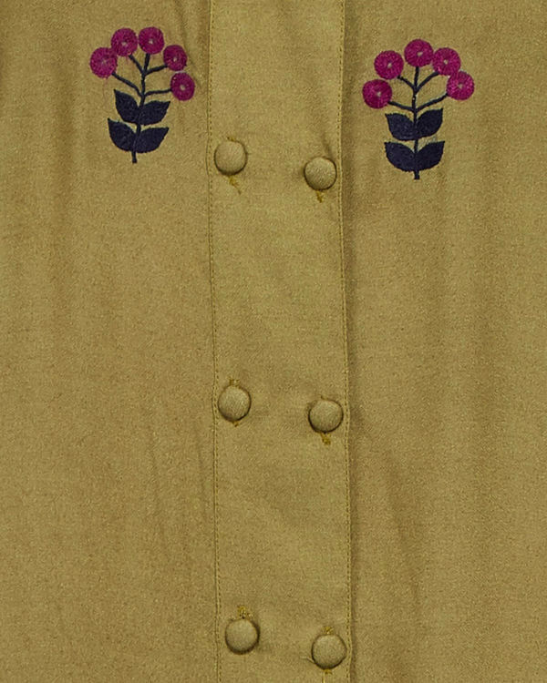 Olive green embroidered tunic 3
