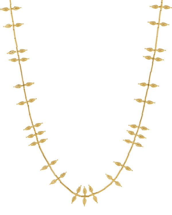 Jasmine bud-shaped gold plated necklace 2