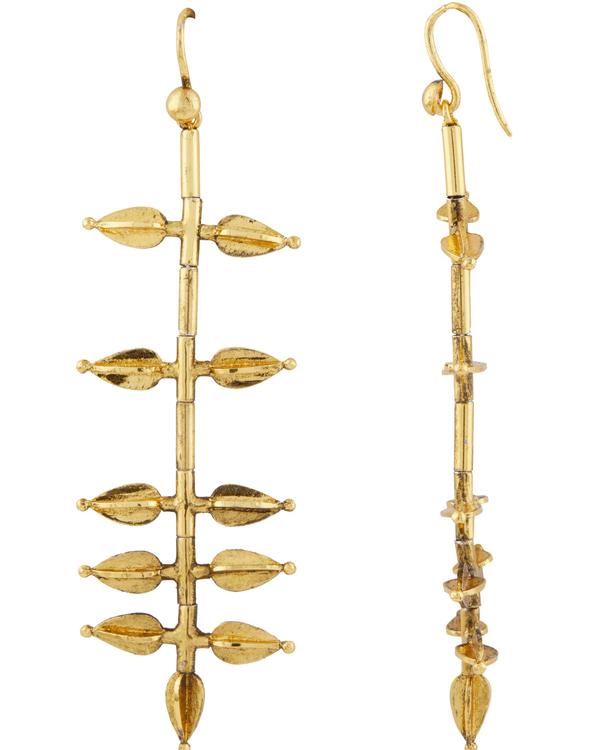 Jasmine bud-shaped gold plated  earrings 2