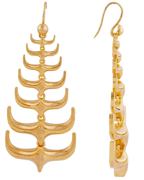 Trendy spikes hanging earrings 2