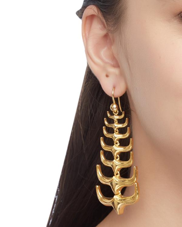 Trendy spikes hanging earrings 1