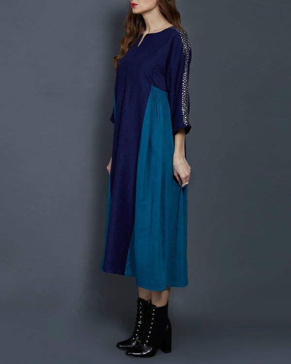 Blue panelled tunic 1