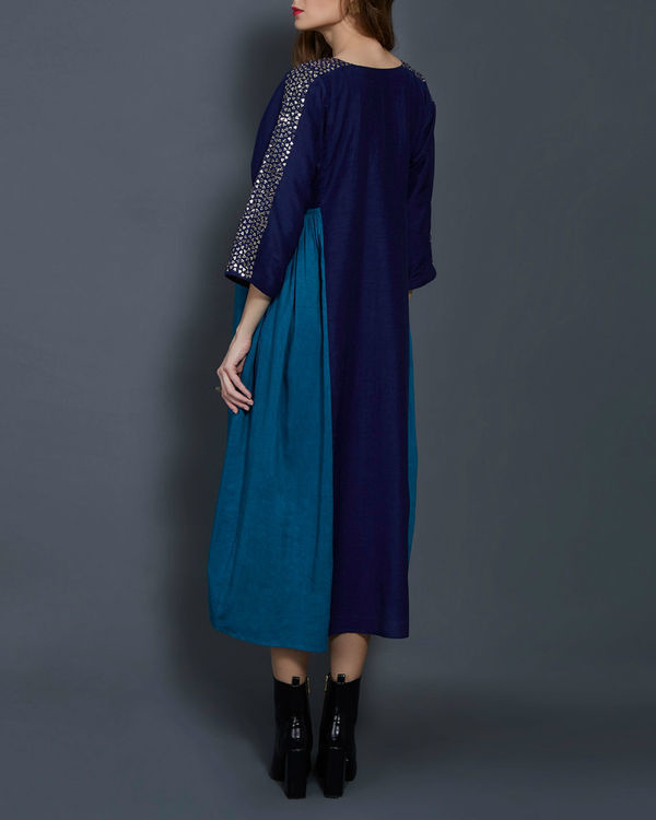 Blue panelled tunic 2