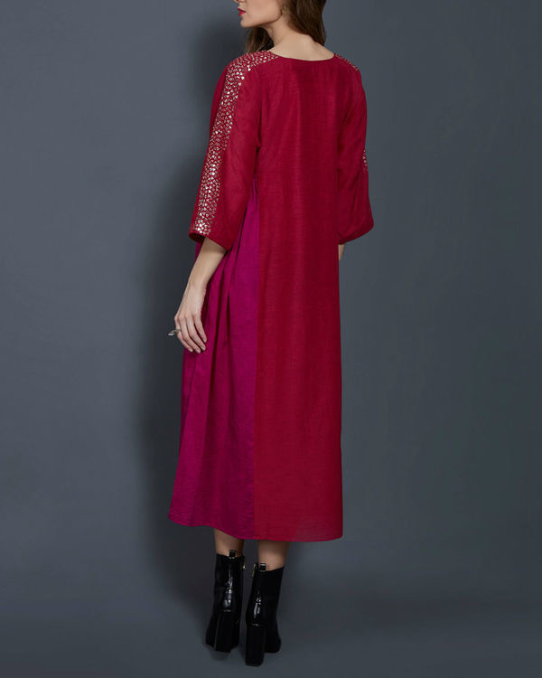 Cherry panelled tunic 1