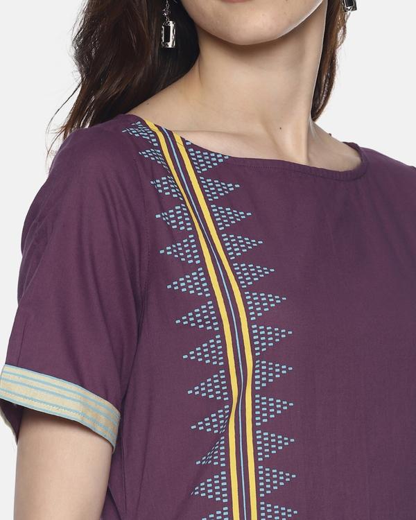 Purple printed kurta 1