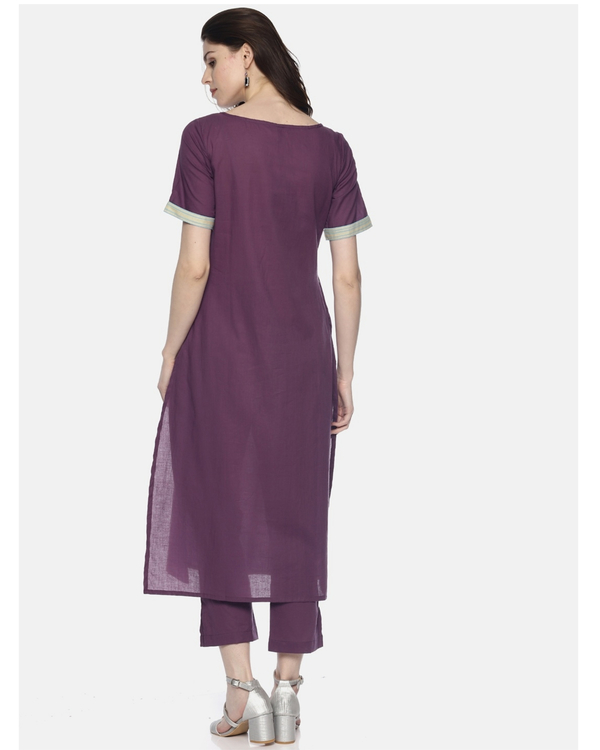 Purple printed kurta 2