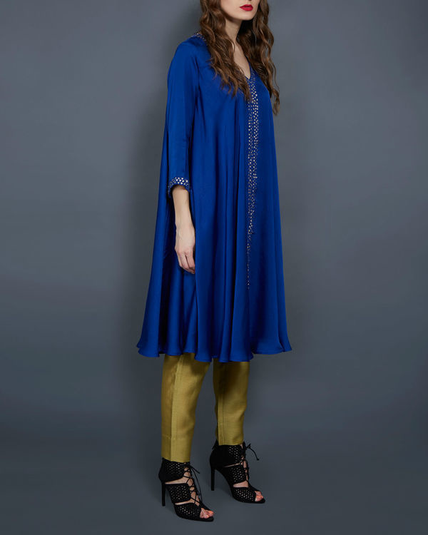 Cobalt blue flared tunic 1