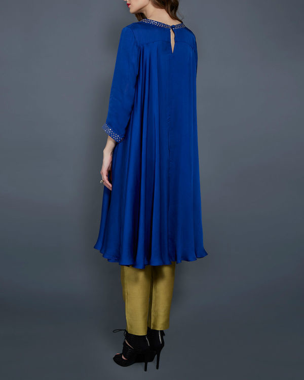 Cobalt blue flared tunic 2