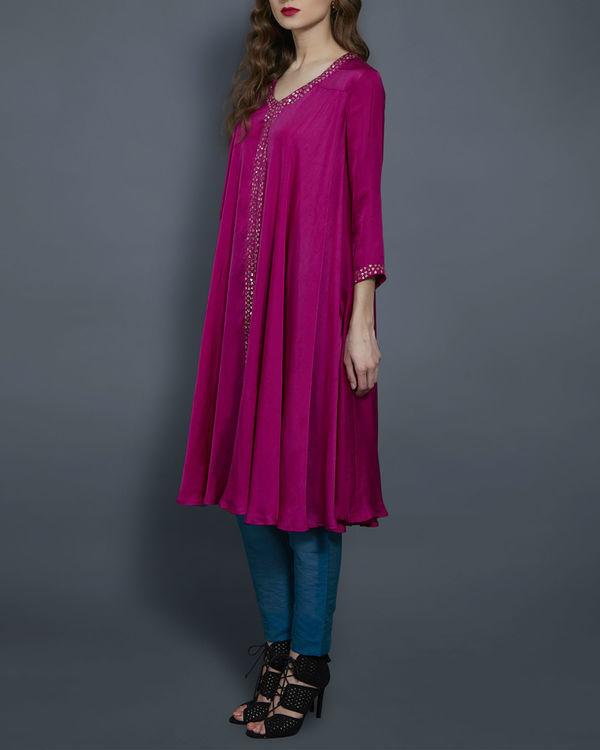 Pink embroidered tunic 1