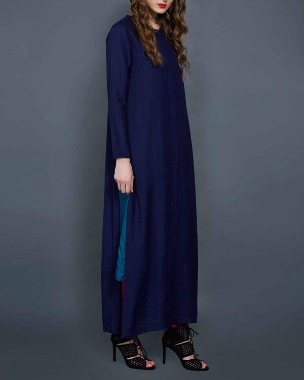 Two piece layered tunic in blue 1