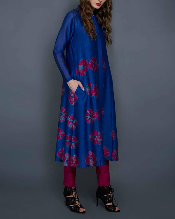 Cobalt blue tie and dye tunic 1