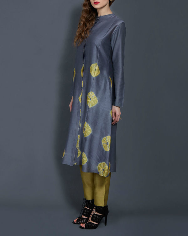 Grey and yellow tie dye tunic 1