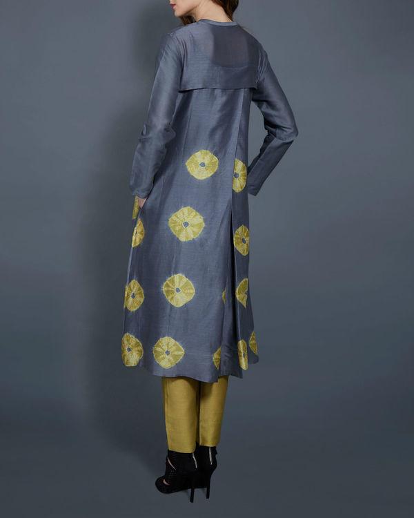 Grey and yellow tie dye tunic 2