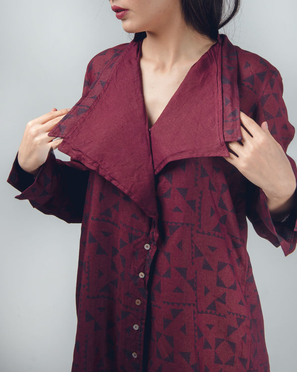 Bordeaux oversized shirt 1