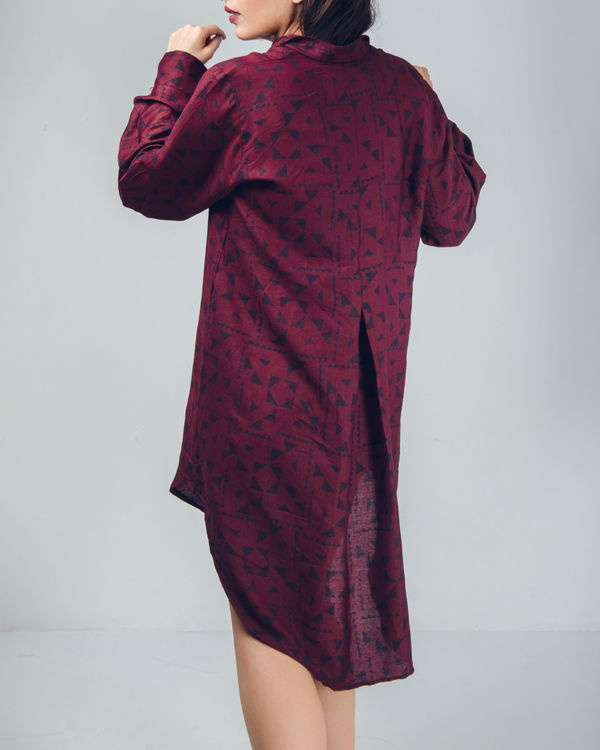 Bordeaux oversized shirt 2