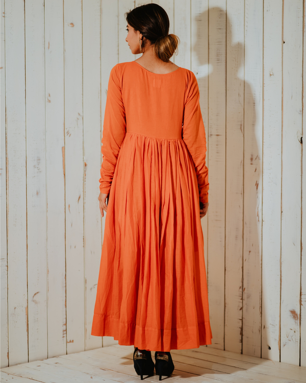 Tangerine lost paradise embroidered maxi 2