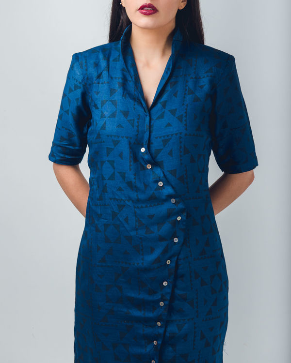 Blue shirt dress 1