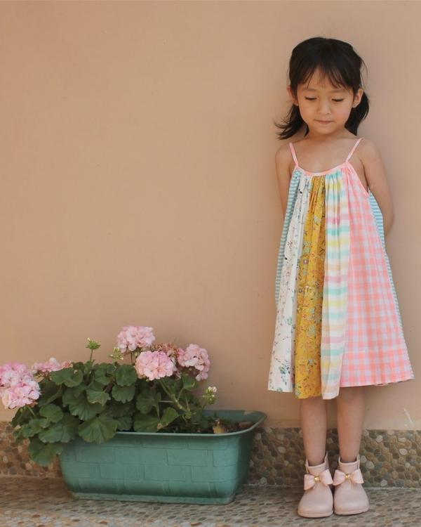 Paneled circle dress 1