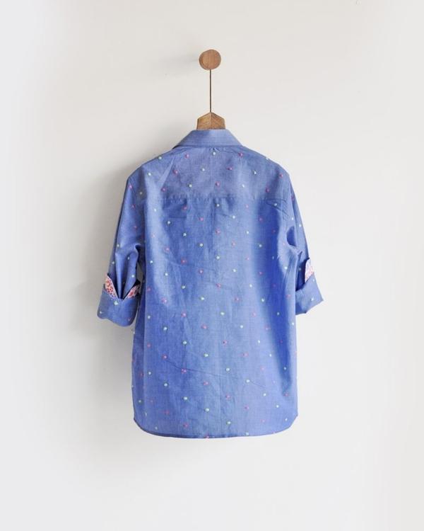 Embroidered kurta shirt 1