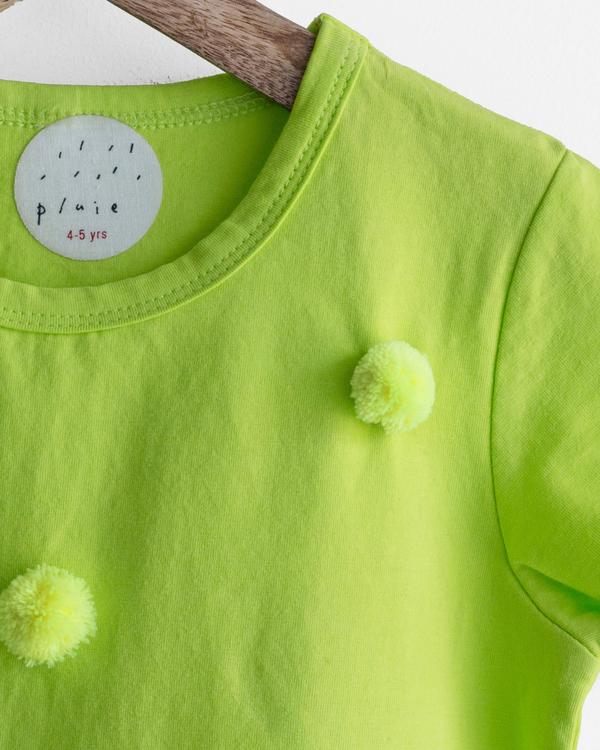 Pluie green happy pom pom tee 2