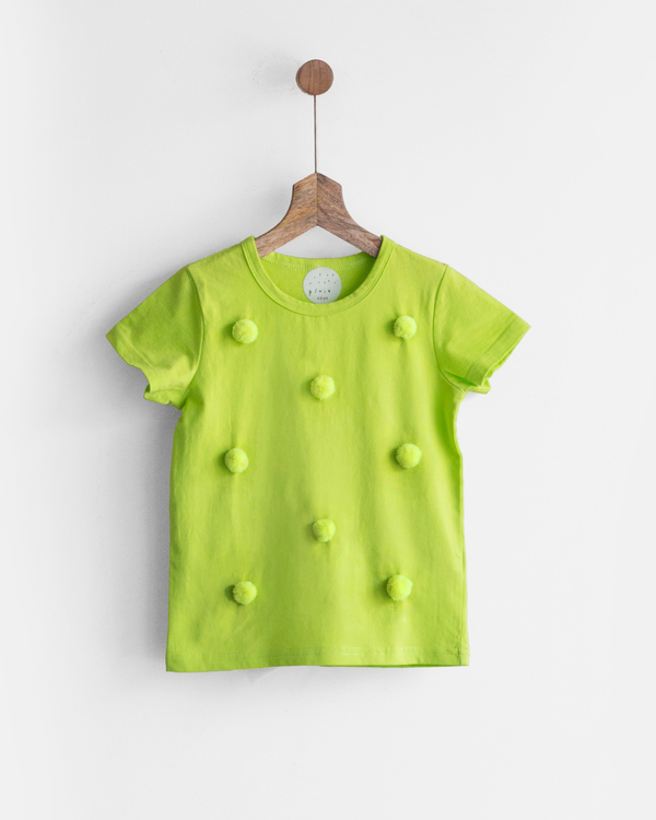 Pluie green happy pom pom tee 1