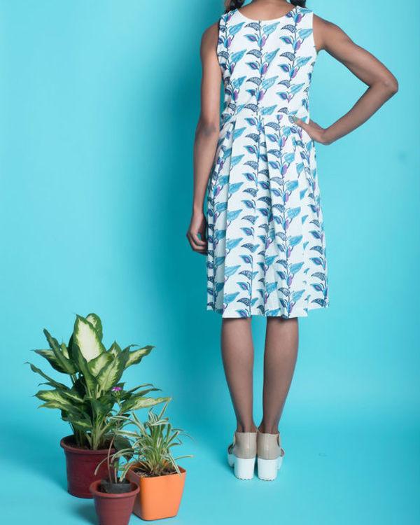 Multi colour floral pleat insert dress 1