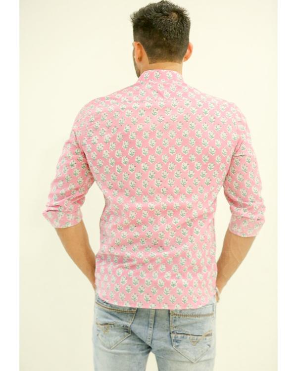 Blush Pink Floral Printed Shirt 2