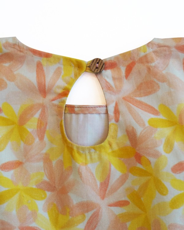 Apricot blooms gathered dress 2