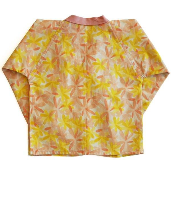 Apricot blooms printed blouse 2