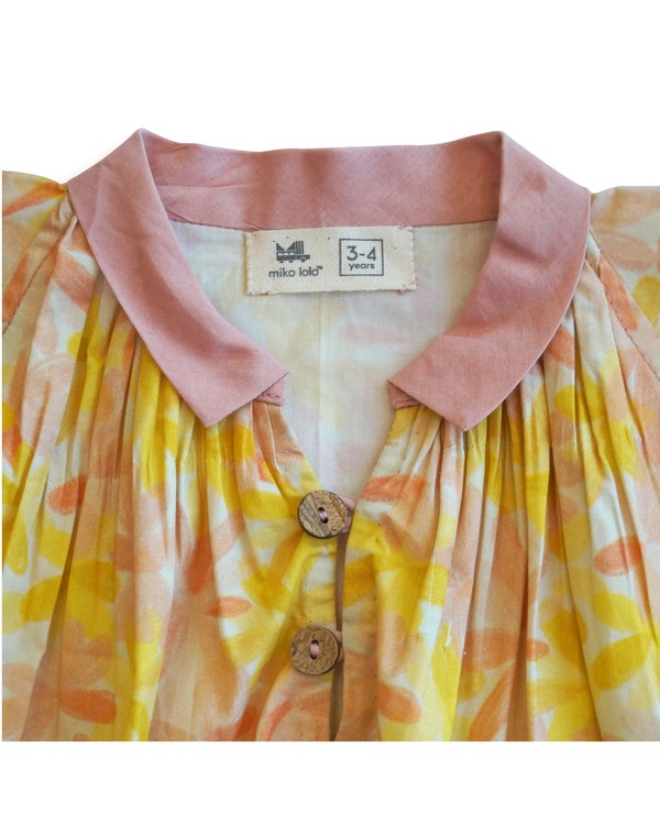 Apricot blooms printed blouse 1