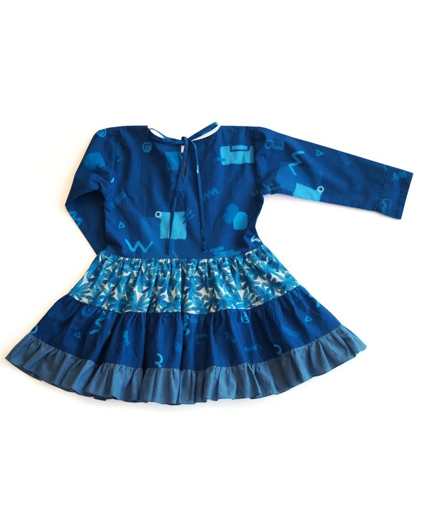 Inky smudge tiered dress 2